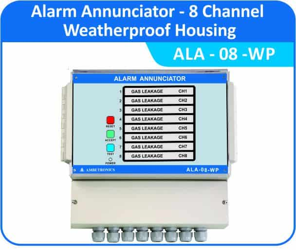 Alarm Annunciators ALA-08 - 8 Channel with weatherproof enclosure