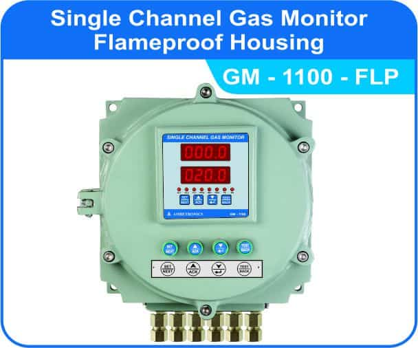 Single Channel Gas Monitor GM-1100 with Flameproof enclosure.