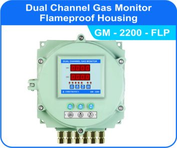 Dual Channel Gas Monitor GM-2200 with flameproof enclosure