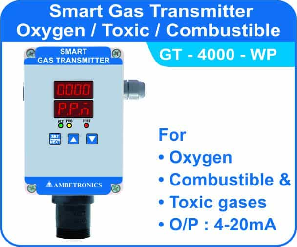 Smart Gas Transmitter GT-4000 with weatherproof enclosure