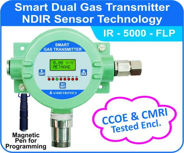Smart Gas Transmitters IR-5000 with flameproof enclosure