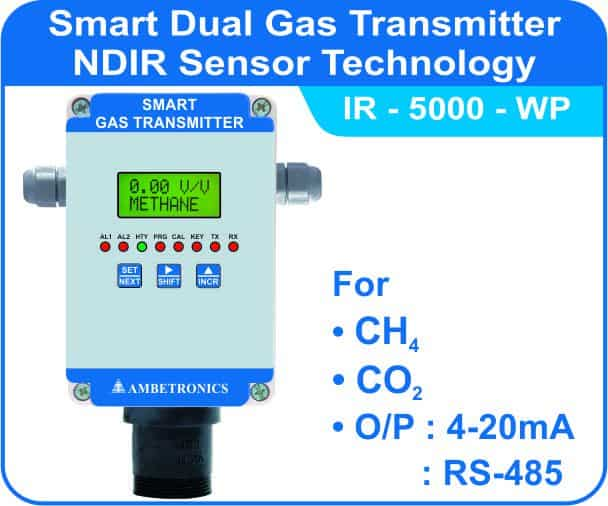 Smart Gas Transmitters IR-5000 with weatherproof enclosure