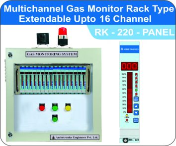 Multichannel gas monitor rack type RK-220 16channel panel