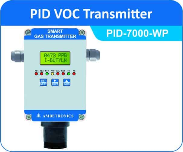 VOC Transmitters PID-7000 with weatherproof enclosure
