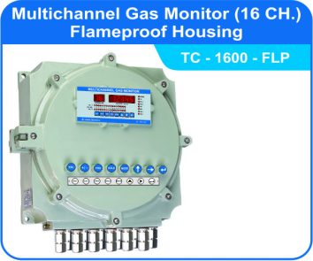 Multichannel Gas Monitor TC-1600 with flameproof enclosure
