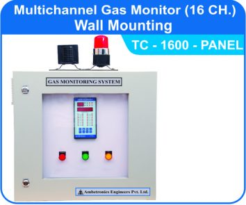 Multichannel Gas Monitor TC-1600 with Panel mounted enclosure
