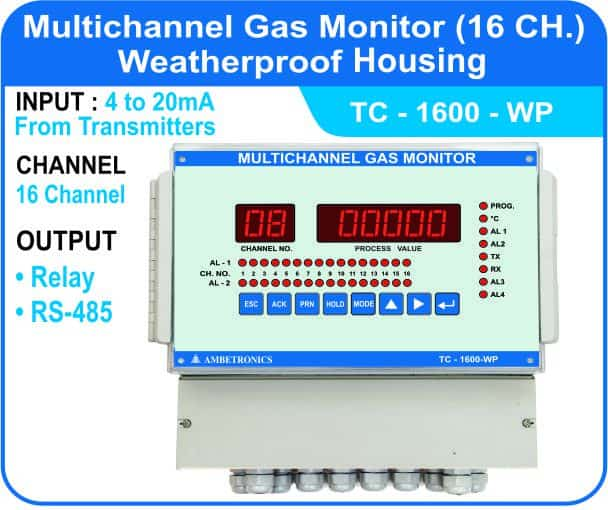 Multichannel Gas Monitor TC-1600 with weatherproof enclosure