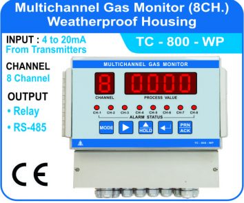 Multichannel Gas Monitor TC-800-WP (Weatherproof Enclosure)
