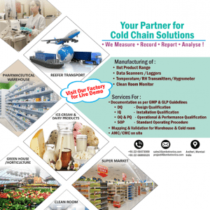Cold chain monitoring applications