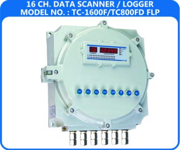 16 Channel Data Logger TC-1600F/FD-FLP (Flameproof Enclosure)