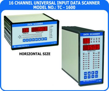16 Channel Data Logger TC-1600F/FD-PM (Panel Mount Enclosure)