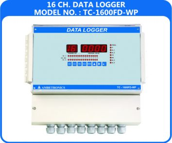 16 Channel Data Logger TC-1600FD-WP (weatherproof Enclosure)