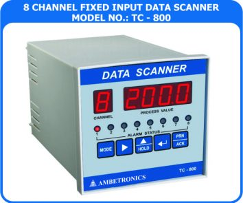 8-channel data loggers data scanners TC-800D-PM (Panel Mount Enclosure)
