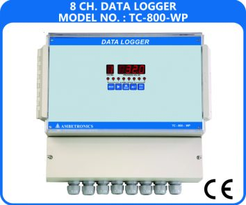 8-channel data loggers data scanners TC-800D-WP (Weatherproof Enclosure)