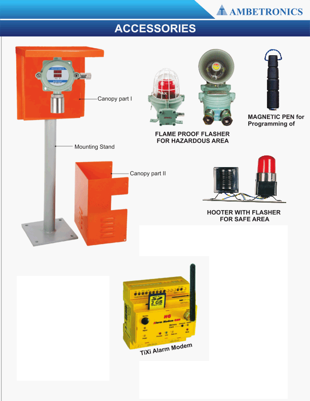 Accessories for gas detection