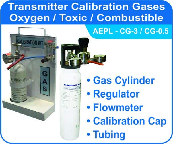 Calibration Gas Kit for Oxygen, Toxic, combustible gases.