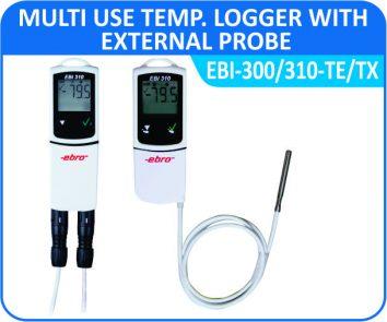 Multiuse Temp. Logger with external Probe EBI-300 / 310- TE / TX