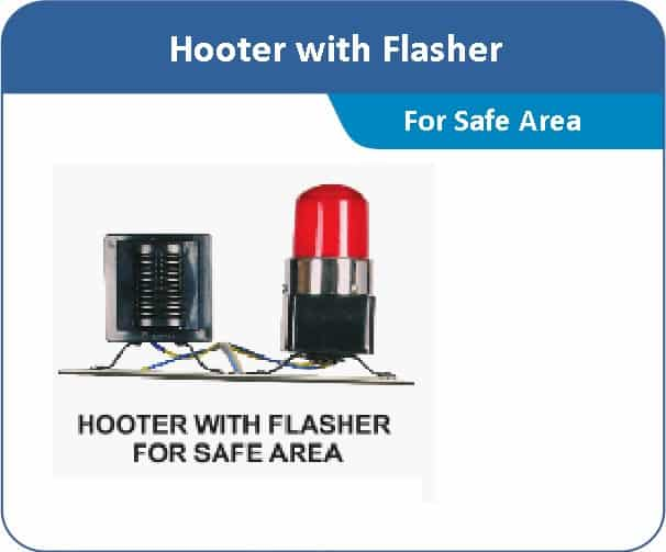 Hooter with Flasher for Safe Area