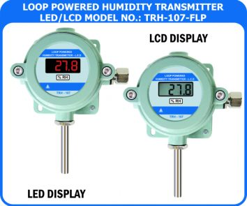 Loop powered temperature / humidity transmitter TRH-107-FLP