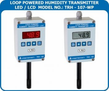 Loop powered temperature / humidity transmitter TRH-107-WP