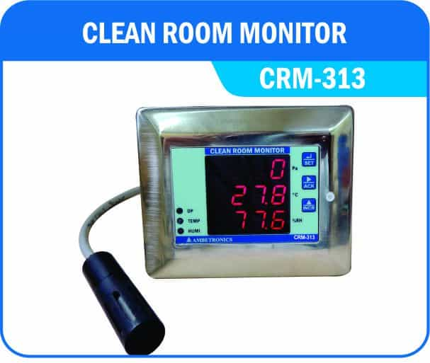 Clean Room Differential Pressure Monitor For Differential
