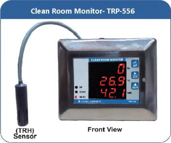 Clean Room Monitor- TRP-556 with remote TRH sensor