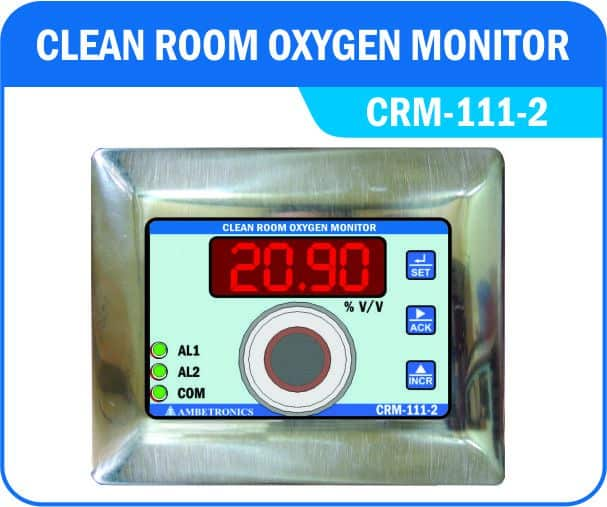 Clean Room Oxygen Monitor For Monitoring Of Oxygen Gas