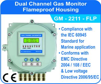 Dual Channel Gas Monitor GM-2211-FLP (Flameproof Enclosure)