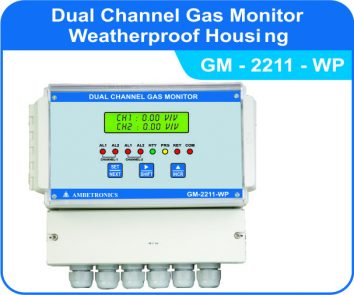 Dual Channel Gas Monitor GM-2211-WP (weatherproof Enclosure)