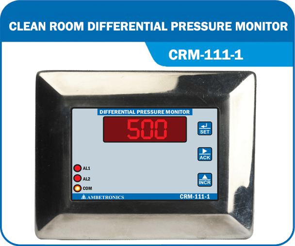 Clean Room Differential Pressure Monitor- CRM-111-1