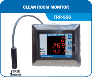 Clean RoomTemperature Humidity Differential Pressure-CRM-TRP-556 with external sensor.