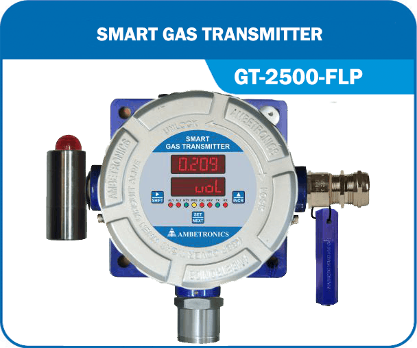 Smart Gas Transmitter- GT-2500-FLP with Hooter & blue enclosure.