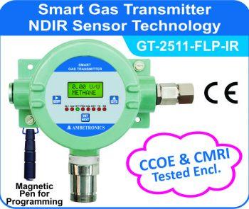Smart Gas Transmitter- GT-2511-FLP-IR with CMRI tested flameproof enclosure