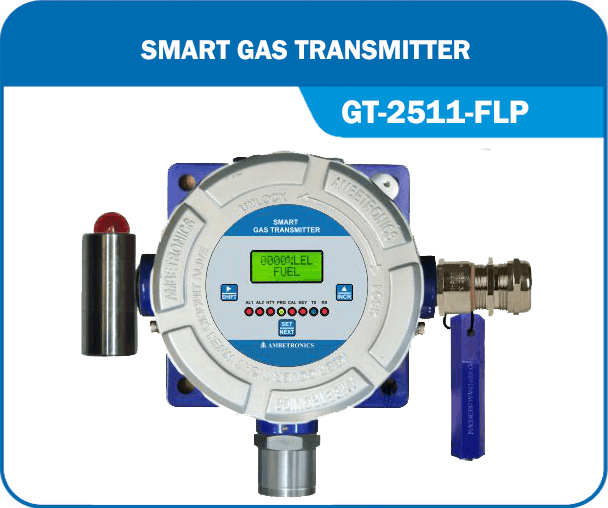 Smart Gas Transmitter- GT-2511-FLP with Hooter & blue enclosure.
