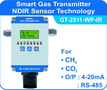 Smart Gas Transmitter- GT-2511-FLP-IR with weatherproof enclosure
