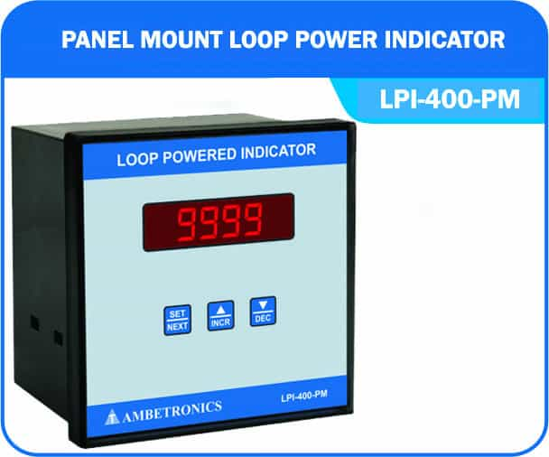 Loop powered indicator LPI-400-PM (Panel Mount Enclosure)