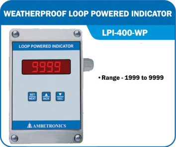 Loop powered indicator LPI-400-WP (Weatherproof Enclosure)