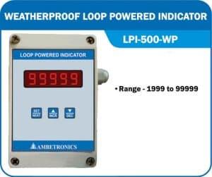 Loop powered indicator LPI-500-WP (Weatherproof Enclosure)