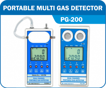 Portable Dual Channel Gas Detector PG-200