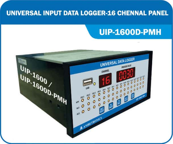 Universal Input Data logger & scanner UIP-1600D (With Horizontal Panelmount Enclosure)