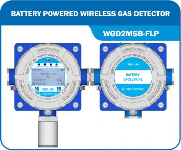 Battery Powered Wireless Gas Detector - WGD2MSB-FLP