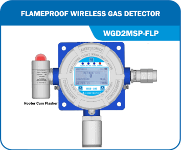 Wireless Gas Detector with Hooter WGD2MSP-FLP