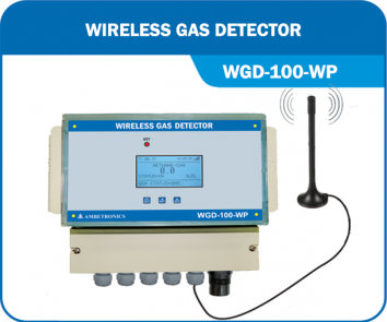 Wireless Gas Detector with weatherproof enclosure - WGD-100-FLP