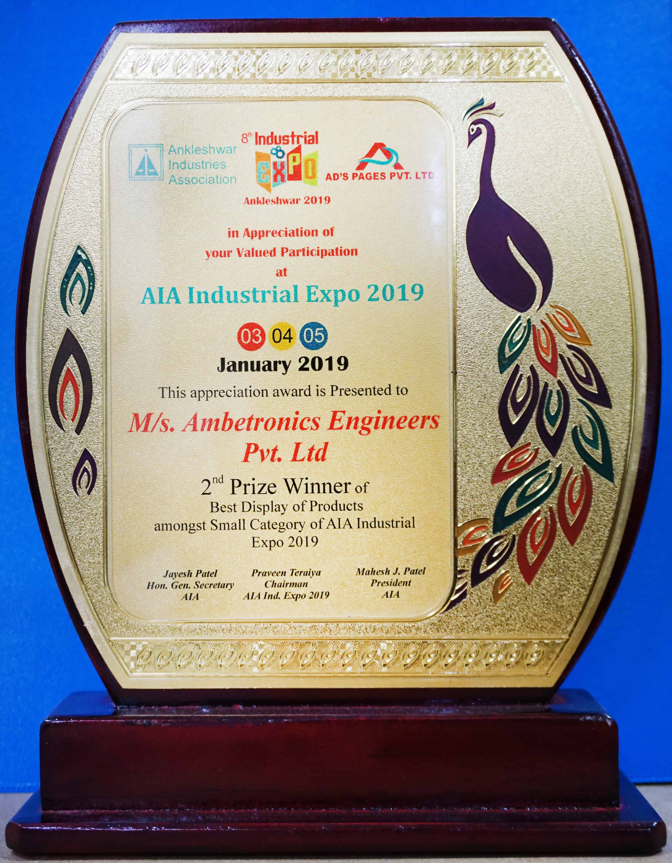AIA Industrial Expo-2019 Award