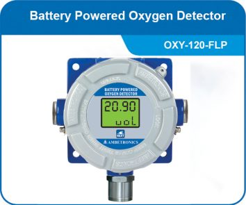 Battery Powered Oxygen Detector with flameproof enclosure
