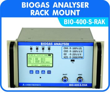 Biogas Analysers fo continuous monitoring of Biogas