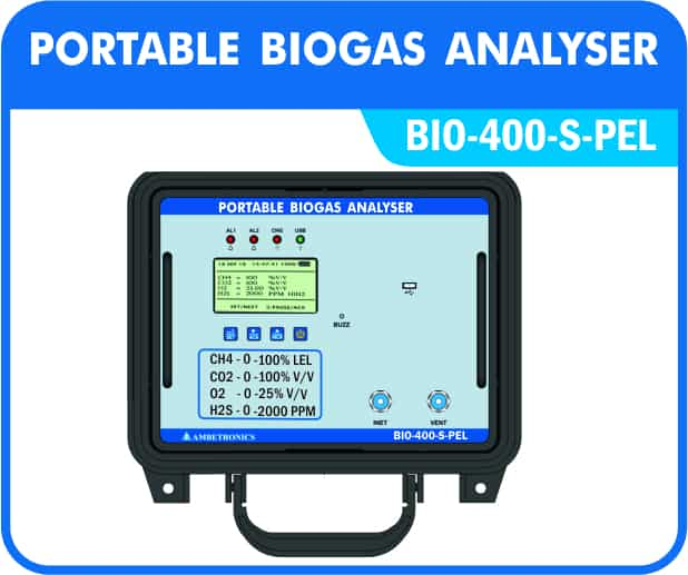 Portable Biogas Analysers with Pelican type enclosures.