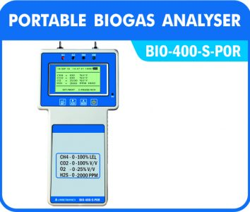 Portable Biogas Analyzers with handheld or pocket type enclosures