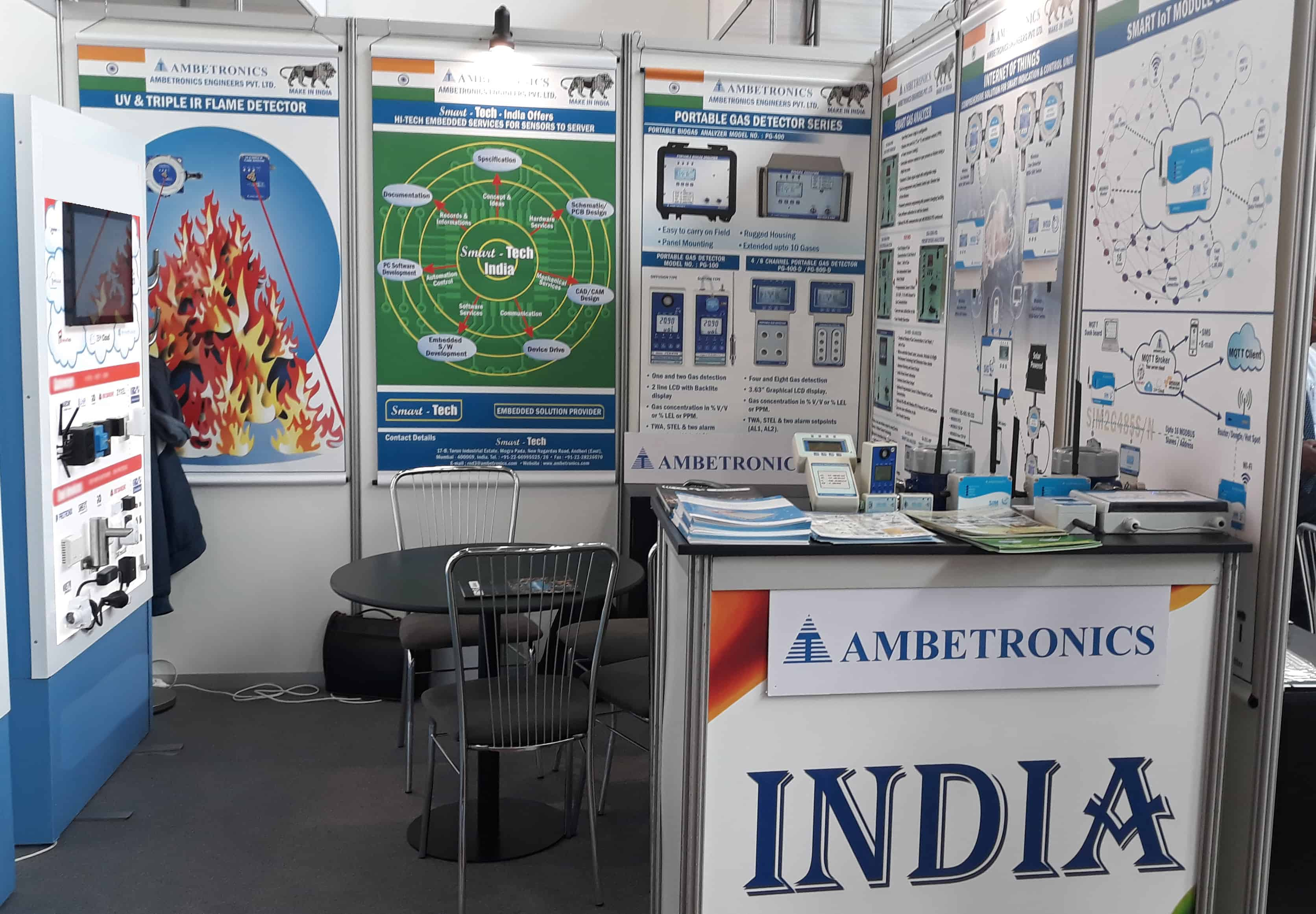 Ambetronics Stall at Amper 2019 Exhibition, Czech Republic, Europe.