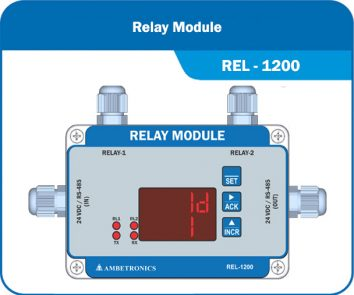 Relay Module for Localized Alarm alert & optional gas-auto-shutoff feature.